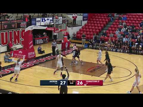 Highlights from the YSU Women's basketball game vs Akron | November 28, 2018