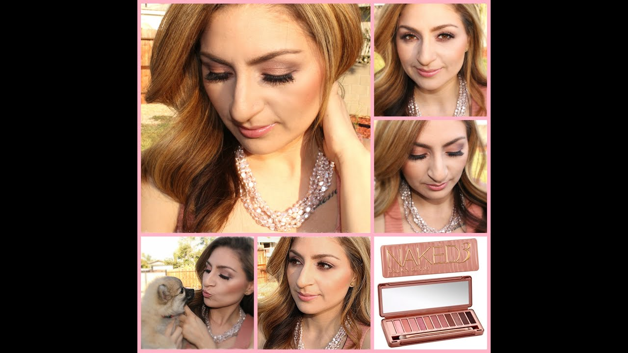 Soft Natural Bridal Makeup Look - NAKED 3 Palette - YouTube