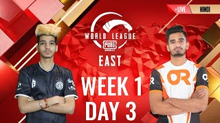 [HINDI] W1D3 - PMWL EAST - Super Weekend | PUBG MOBILE World League Season Zero (2020)