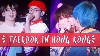 jungkook carrying tae bridal style || taekook hong kong moments d-1