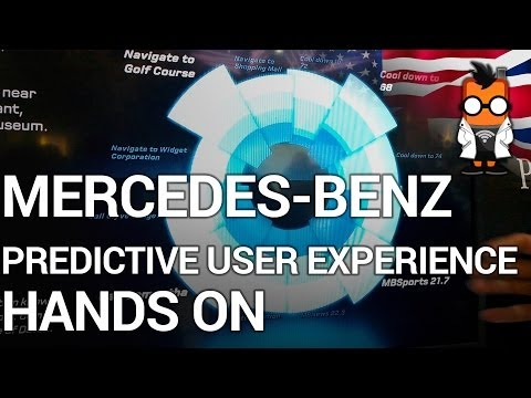 Mercedes-Benz Predictive User Experience - Hands On - CES 2014
