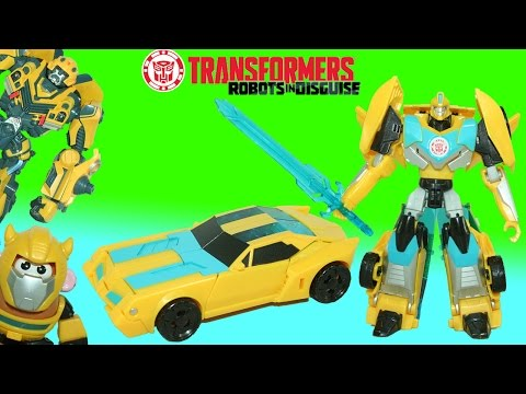 Transformers Robots in Disguise Bumblebee 7 step Clash of the Transformers!
