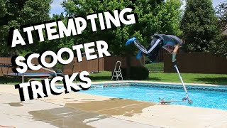 SCOOTER FLIPS INTO THE POOL!?