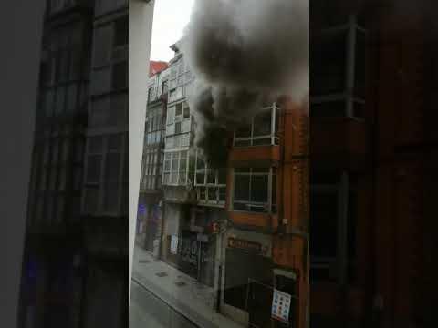 Incendio en el número 12 de la calle Alta de Santander