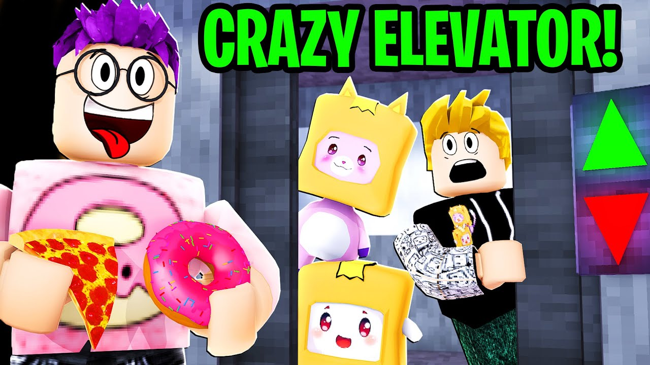 Can We Survive This CRAZY ROBLOX ELEVATOR GAME!? (Don't Press The Button!)