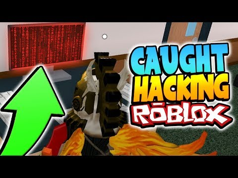CAUGHT HACKING IN ROBLOX !! - Flee The Facility