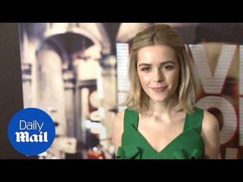 Kiernan Shipka looks elegant at Live From New York! premiere - Daily Mail