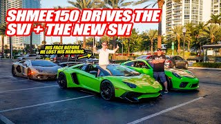 SHMEE150 DRIVES THE LAMBORGHINI AVENTADOR SVJ! *Revs it right in front of a Cop lol*