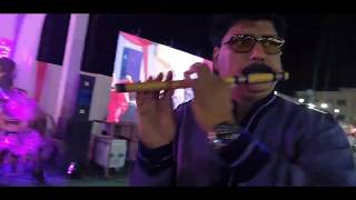 Jiske Sapne Hame Roz Aate on flute instrumental in wedding event by sunil Sharma indore+919827069747