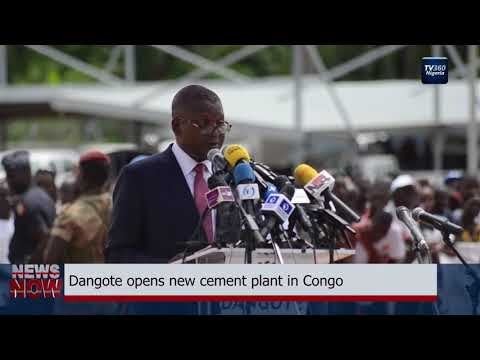 Dangote opens new cement plant in Congo