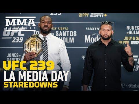 UFC 239: Los Angeles Media Day Staredowns - MMA Fighting