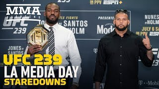 ufc 239 los angeles media day staredowns mma fighting