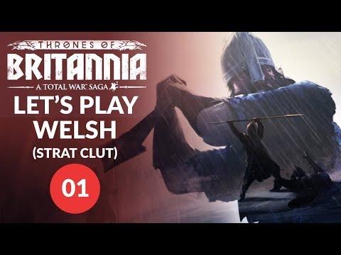 Thrones of Britannia   SLAUGHTERING SEA KINGS! - Strat Clut (Welsh Kingdom) Lets Play 01