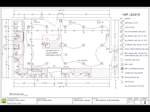 8 electrical, mechanical and plumbing plan for the nkba ckbd exam - youtube