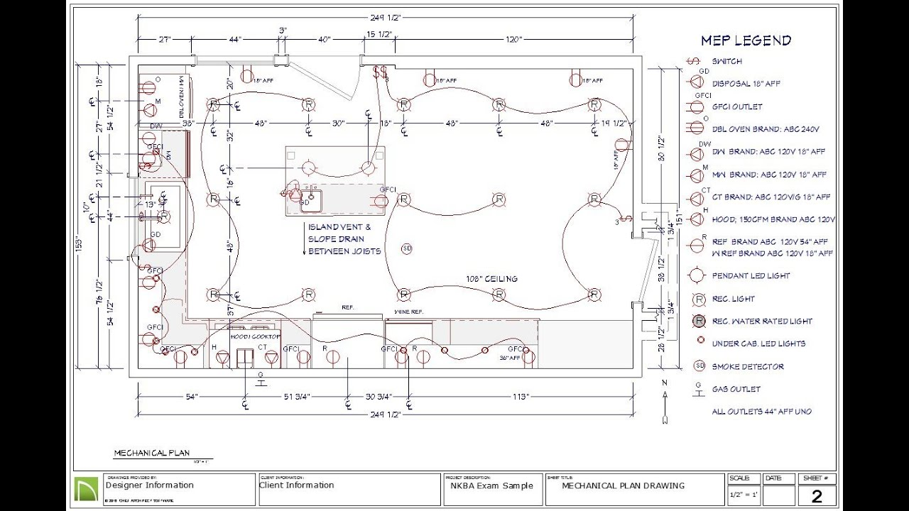 8 electrical mechanical and plumbing plan for the nkba ckbd exam [ 1280 x 720 Pixel ]