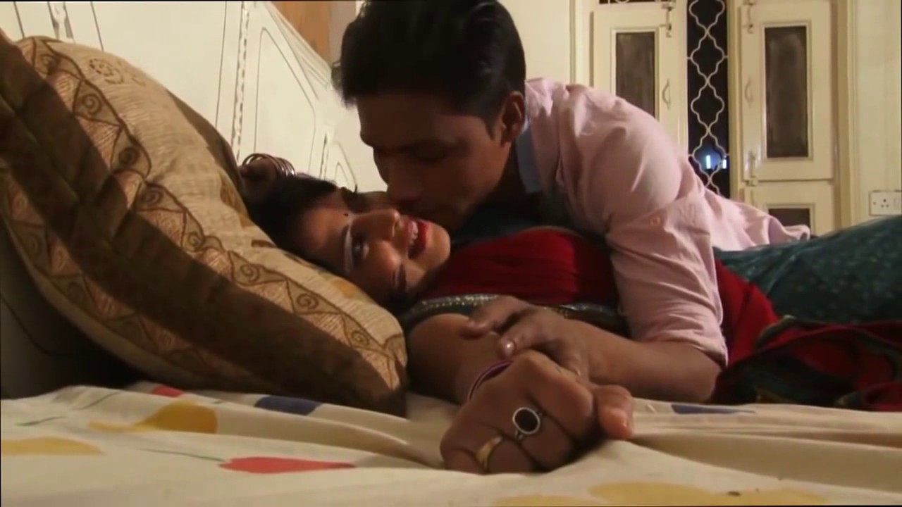 husband and wife romance on bed scene