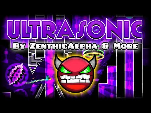 "Geometry Dash - ""ULTRASONIC"" [DEMON] by ZenthicAlpha & More!   GuitarHeroStyles"