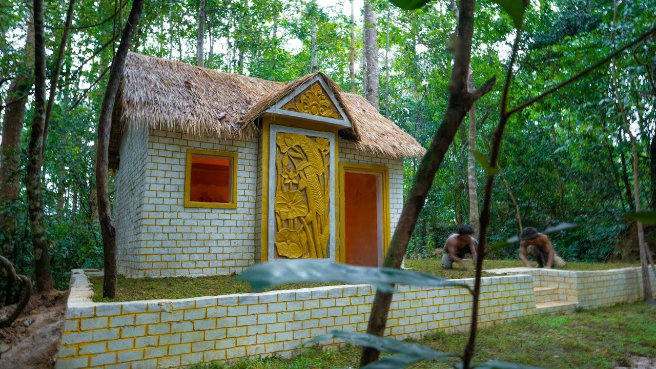 Build luxury thatched cottage Villa, Ancient Architecture Styles