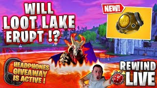 WILL LOOT LAKE ERUPT !? | Ragnarok ! 👷 Headphones GIVEAWAY ► Fortnite Battle Royale 🔴 LIVE RW
