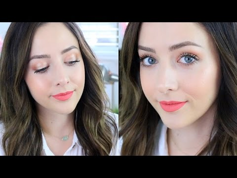 Glowy Summer Makeup Tutorial! Too Faced Sweet Peach Tutorial!