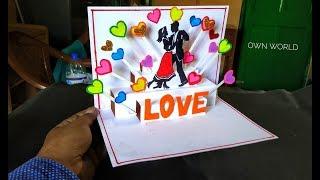 Beautiful Birthday Greeting Card Idea   DIY Birthday POP-UP card   Friendship Day card!
