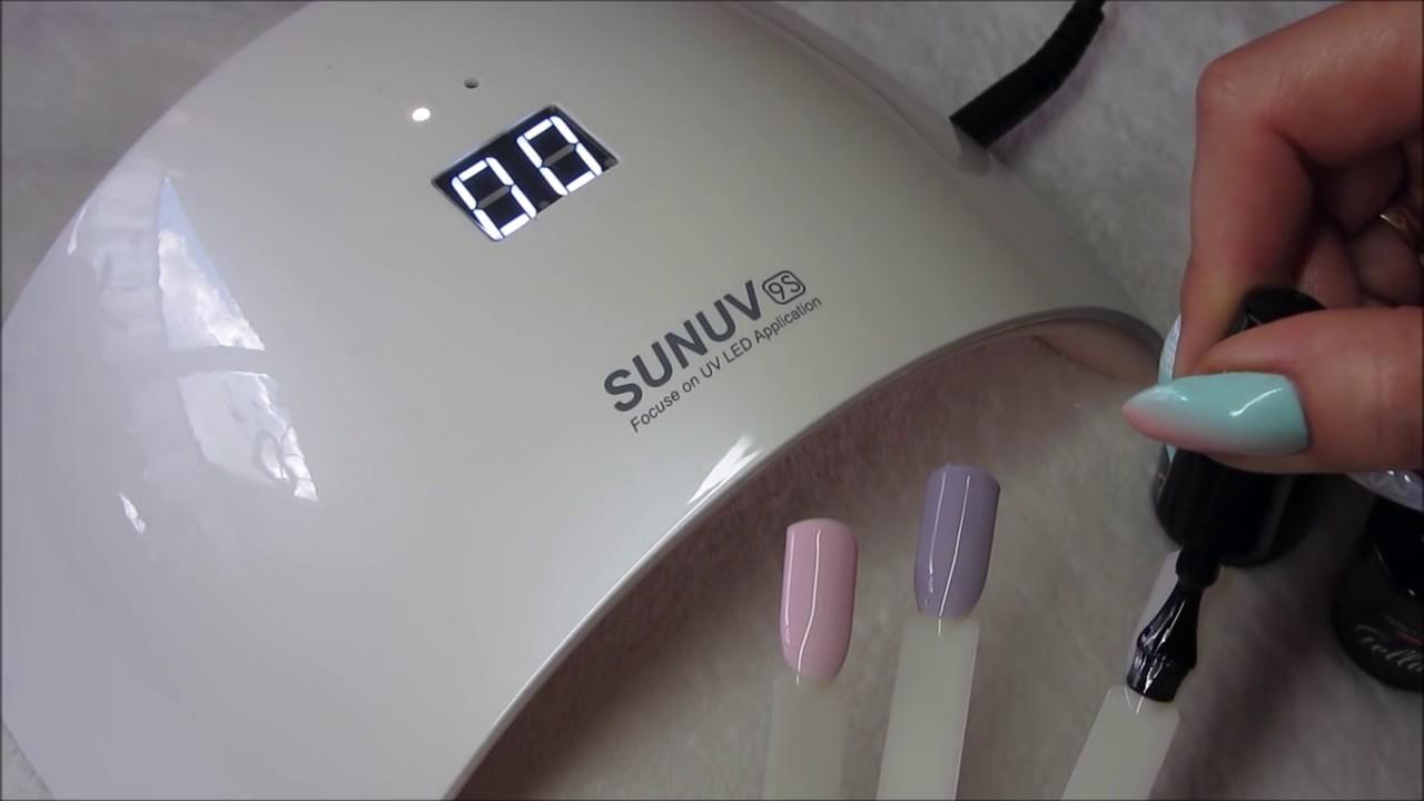SUN 9S 24W LED UV Lamp Gel Nail Dryer Machine - YouTube