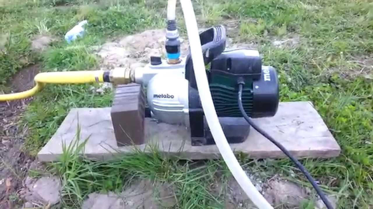 Zupełnie nowe Pompa ogrodowa Metabo P 4000 G - YouTube YH14