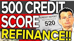 Cash Out Refinance down to 500 Credit Score!