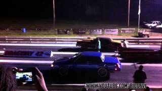 87 Cutlass 455 Olds vs 77 Monte Carlo 454 BBC Racing On Rims! [King Of Ohio Car Show]