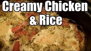 Creamy Chicken & Rice - Ninja or Slow Cooker