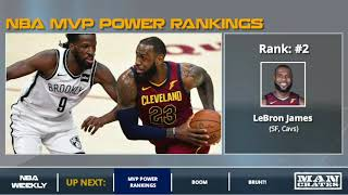 Nba Mvp Power Rankings - James Harden, Lebron James, Steph Curry