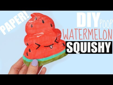 DIY PAPER WATERMELON POOP SQUISHY