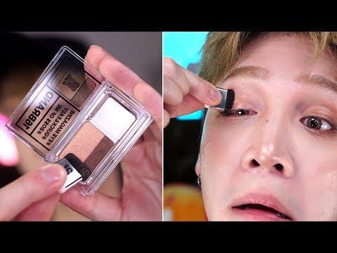 Trying this swipe on eyeshadow lol - Edward Avila