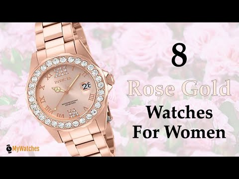 8 Top Brands Rose Gold Watches For Women Price Under $100