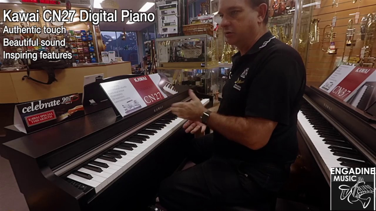 kawai cn27 digital piano review engadine music youtube. Black Bedroom Furniture Sets. Home Design Ideas