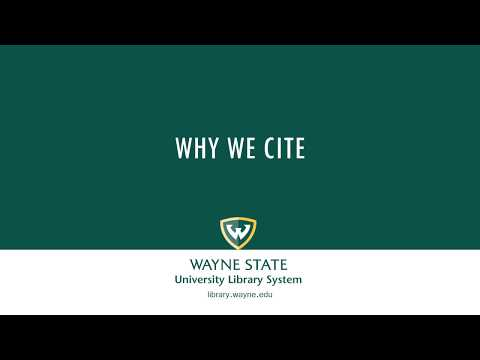 Why We Cite (Examples in MLA Format)