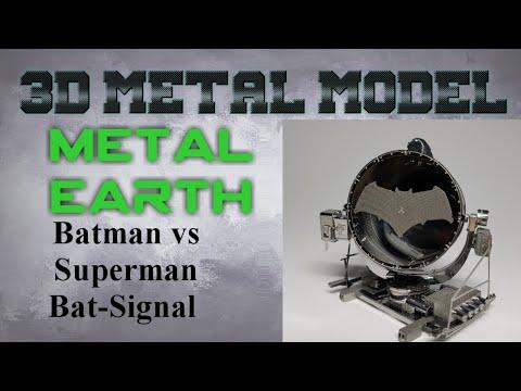 Metal Earth Build - Batman vs Superman Bat Signal