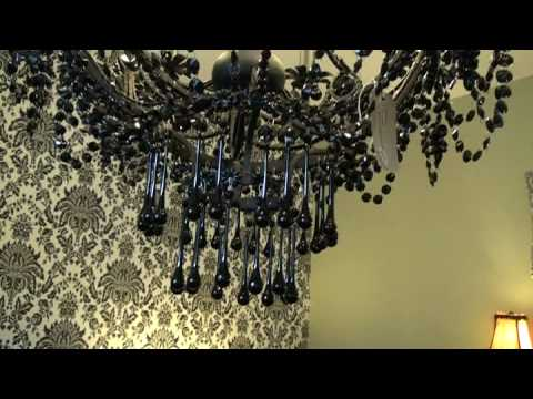 Home Stansted Black 8arm Chandelier