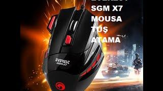 Everest sgm x7 mouse Tuş Atama + Program