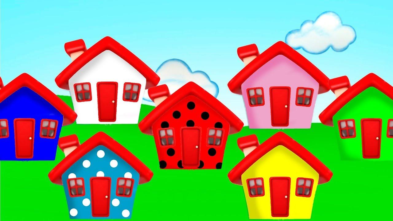quem mora na casinha casinhas coloridas dos desenhos clip infantil