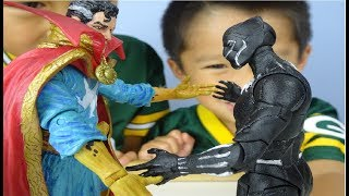 Nollen and Mason Unboxing Marvel Select Dr. Strange and Black Panther