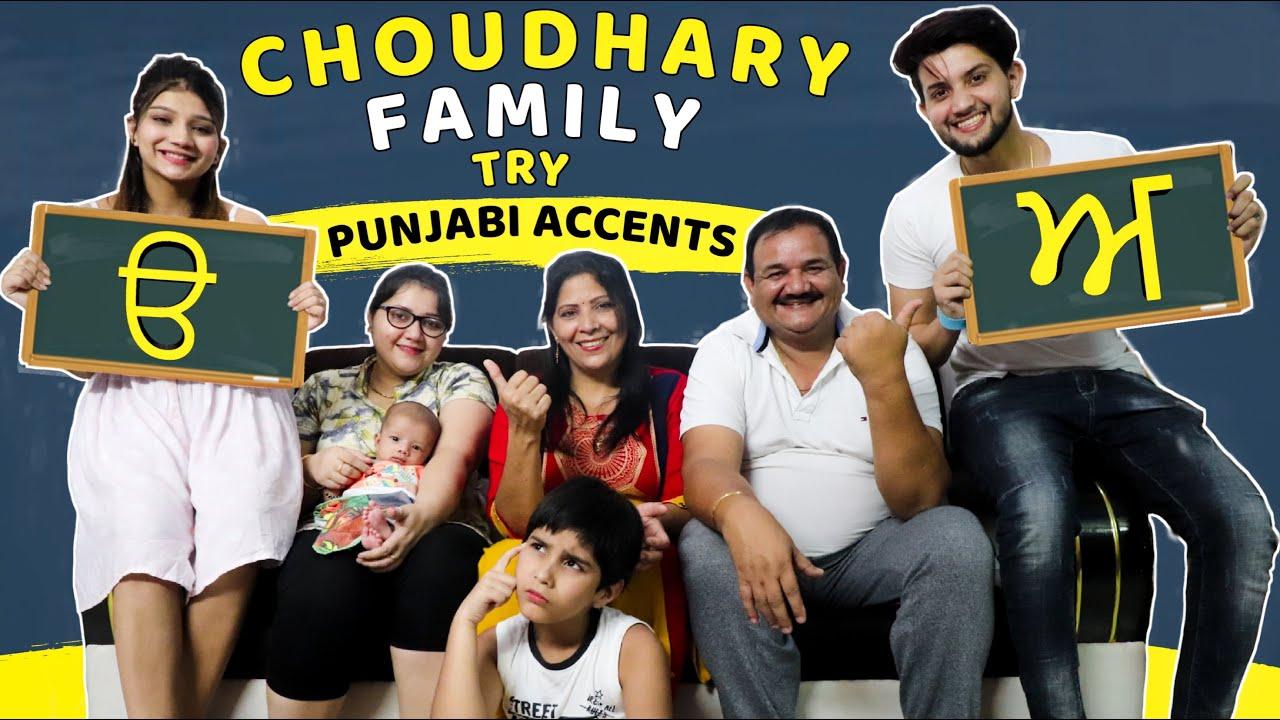 Choudhary Family Try Punjabi Accents | Vivek Choudhary | Khushi Punjaban