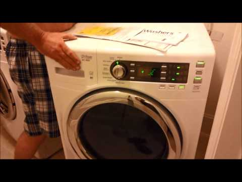 """GE washer GFWS 1500 with shipping braces still connected, """"Remove them"""""""