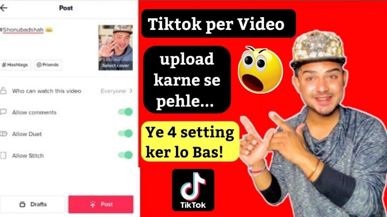 Q nahi hoti tiktok video viral | Tiktok account basic settings by shonu badshah