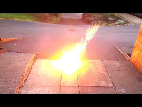 Exploding Lithium Battery