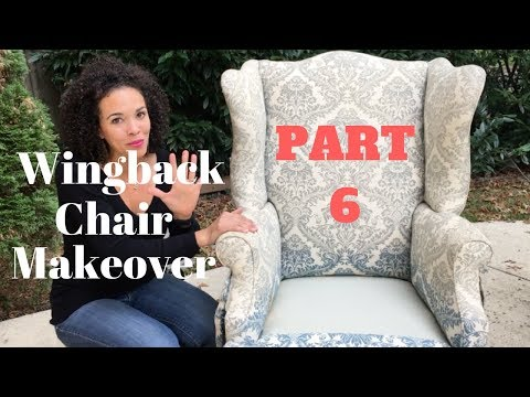 How to Reupholster a Wingback Chair! PART 6 - Sewing the Arm Covers
