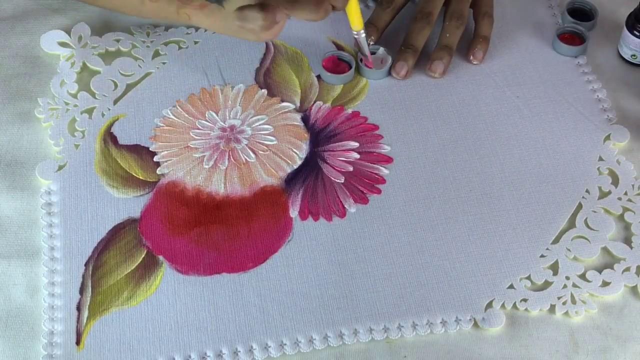 Como pintar una gerbera por hugo espinosa youtube - Como pintar azulejos a mano ...