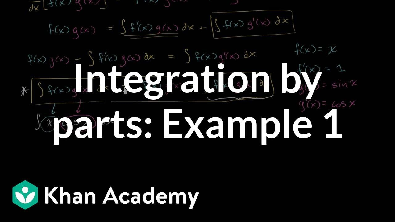 Integration by parts: ∫x⋅cos(x)dx (video) | Khan Academy