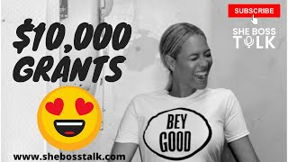 $10,000  SMALL BUSINESS GRANT🐝🐝| #BEYONCE FREE MONEY | She Boss Talk