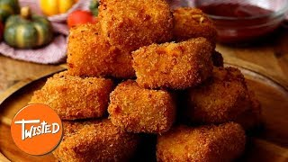 How To Make Pumpkin Mac And Cheese Bites   Cheesy Party Appetizers   Twisted